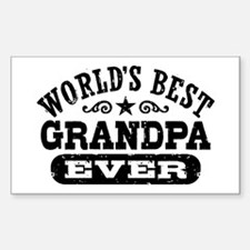 World's Best Grandpa Ever Decal