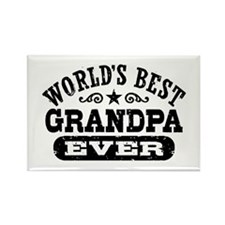 World's Best Grandpa Ever Rectangle Magnet