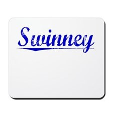 Swinney, Blue, Aged Mousepad