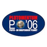 PLUTOMENTUM Oval Sticker