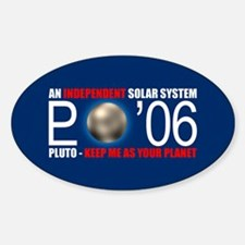 PLUTO 'O6 Oval Decal
