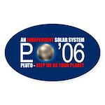 PLUTO 'O6 Oval Sticker