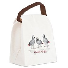 african grey parrots Canvas Lunch Bag
