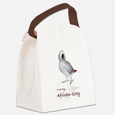 i love african greys Canvas Lunch Bag