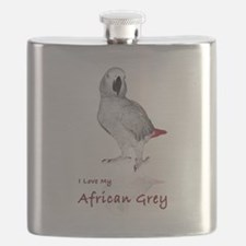 i love african greys Flask