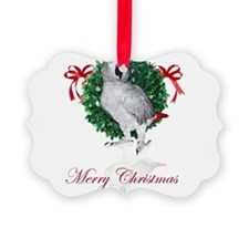 african grey christmas Ornament