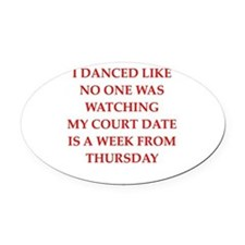 dancing Oval Car Magnet