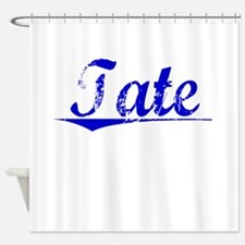 Tate, Blue, Aged Shower Curtain