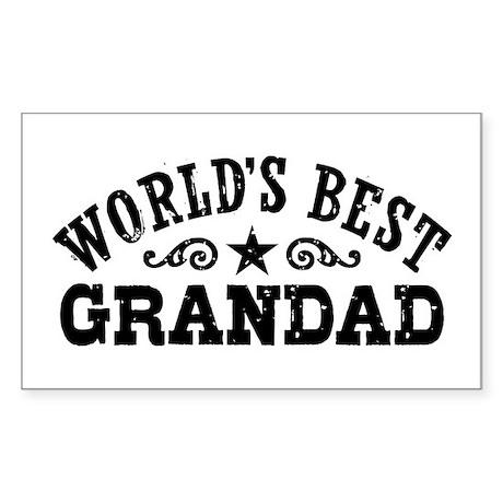 World's Best Grandad Sticker (Rectangle)