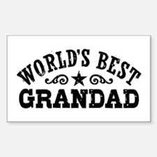 World's Best Grandad Sticker (Rectangle)