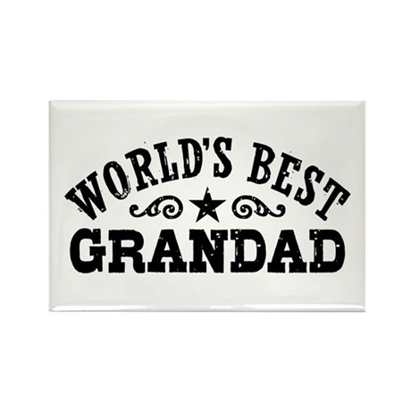 World's Best Grandad Rectangle Magnet
