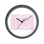 Pink Daddy's Little Girl Spoiled Wall Clock