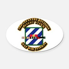 Army - DS - 3rd INF Div Oval Car Magnet