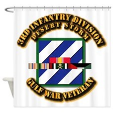 Army - DS - 3rd INF Div Shower Curtain