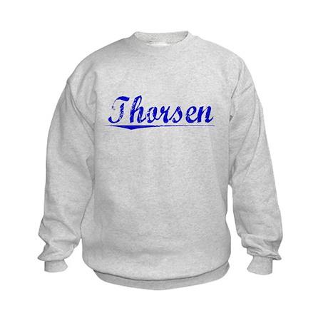 Thorsen, Blue, Aged Kids Sweatshirt