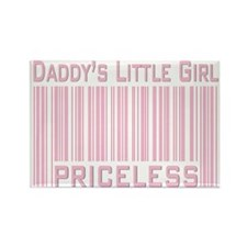 Daddy's Little Girl Priceless Pink Rectangle Magne