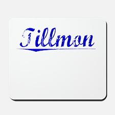 Tillmon, Blue, Aged Mousepad