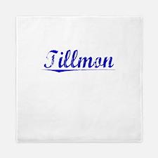Tillmon, Blue, Aged Queen Duvet