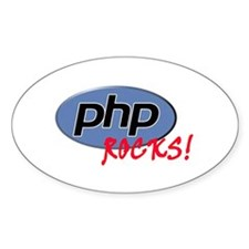 PHP Rocks Oval Decal