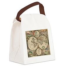 Antique World Map Canvas Lunch Bag