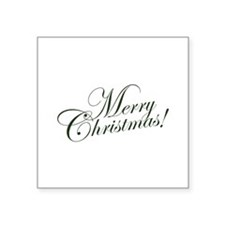 "Merry Christmas Square Sticker 3"" x 3"""