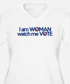 i am woman watch me vote T-Shirt