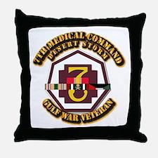 Army - DS - 7th MEDCOM Throw Pillow