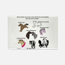 Horsey Personalities Rectangle Magnet