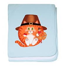 Bauble Cat Thanksgiving baby blanket
