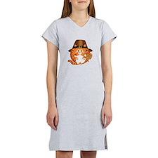 Bauble Cat Thanksgiving Women's Nightshirt