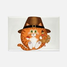 Bauble Cat Thanksgiving Rectangle Magnet (100 pack