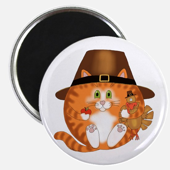 Bauble Cat Thanksgiving Magnet