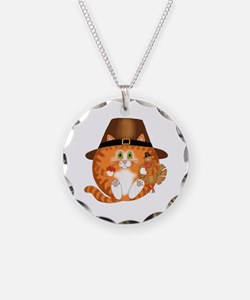 Bauble Cat Thanksgiving Necklace