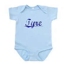 Tyre, Blue, Aged Infant Bodysuit