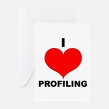I Love Profiling Greeting Cards (Pk of 10)