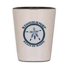 Kennebunkport ME - Sand Dollar Design. Shot Glass