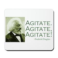 "Frederick Douglass ""Agitate!"" Mousepad"