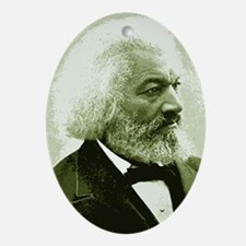 "Frederick Douglass ""Agitate!"" Oval Ornament"