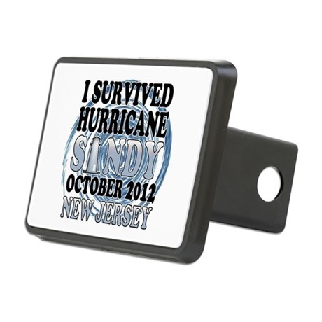 Hurricane Sandy New Jersey Rectangular Hitch Cover