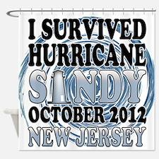 Hurricane Sandy New Jersey Shower Curtain