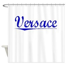 Versace, Blue, Aged Shower Curtain