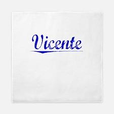 Vicente, Blue, Aged Queen Duvet