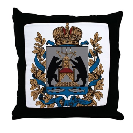 Novgorod Coat of Arms Throw Pillow