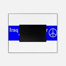 support_our_troops_red_on_white.png Picture Frame