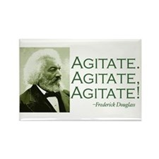 "Frederick Douglass ""Agitate!"" Rectangle Magnet"