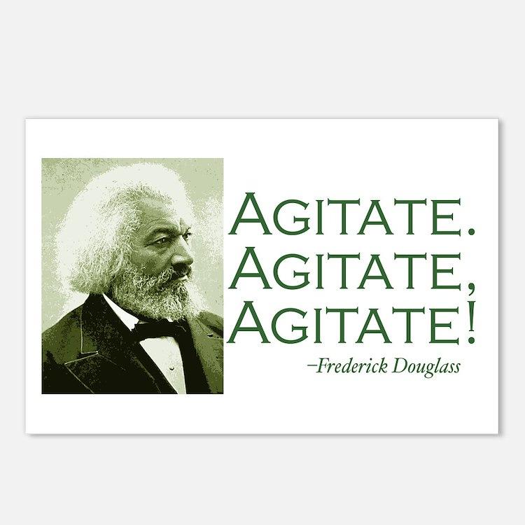 "Frederick Douglass ""Agitate!"" Postcards (8)"