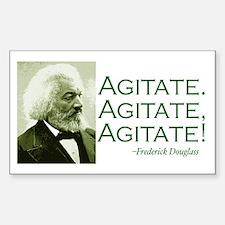 "F. Douglass ""Agitate!"" Rectangle Decal"