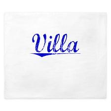 Villa, Blue, Aged King Duvet