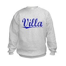 Villa, Blue, Aged Sweatshirt