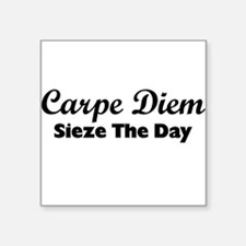 "Carpe Diem Square Sticker 3"" x 3"""